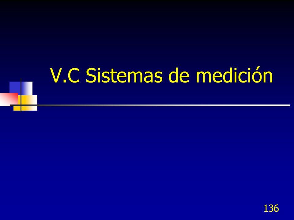 V.C Sistemas de medición
