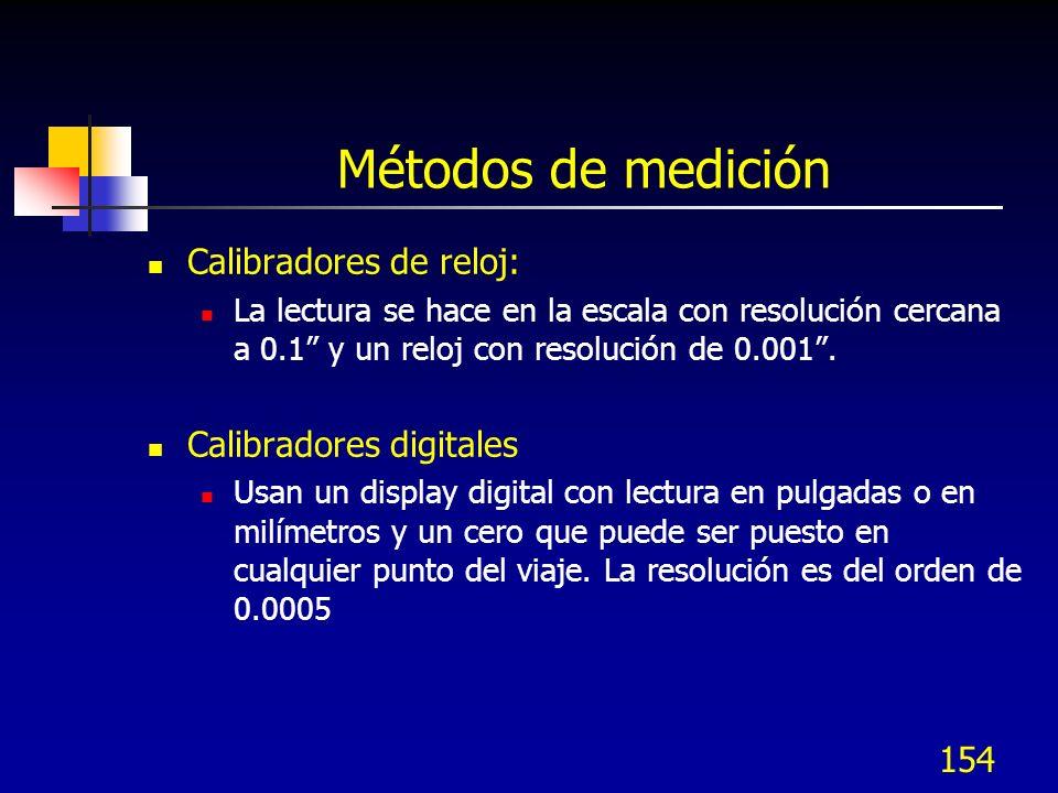 Métodos de medición Calibradores de reloj: Calibradores digitales