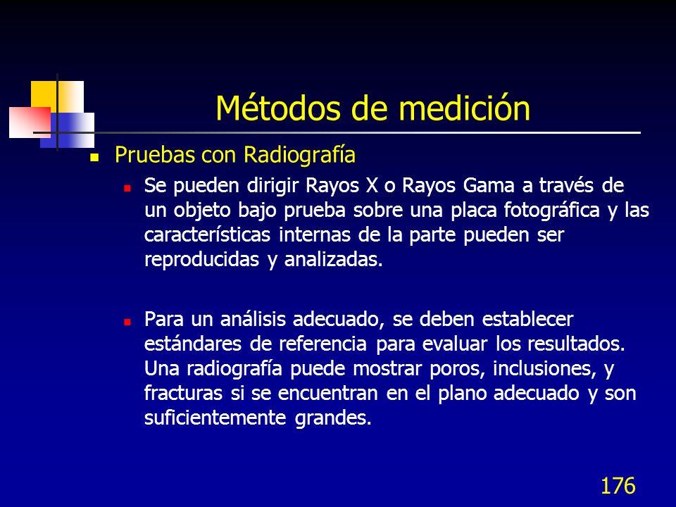 Métodos de medición Pruebas con Radiografía