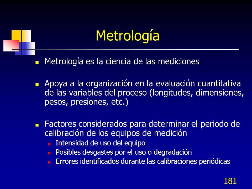 Metrología Metrología es la ciencia de las mediciones