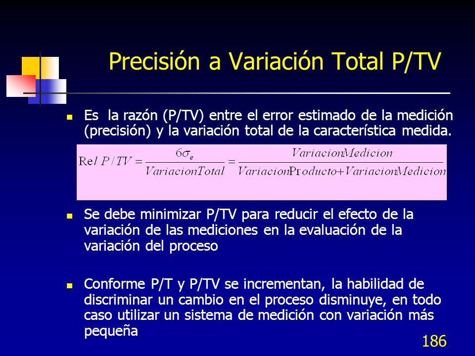 Precisión a Variación Total P/TV