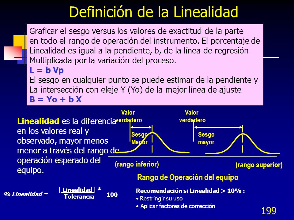 Definición de la Linealidad