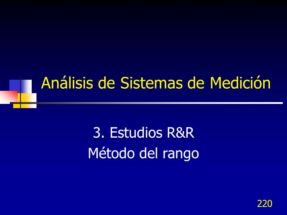 Análisis de Sistemas de Medición