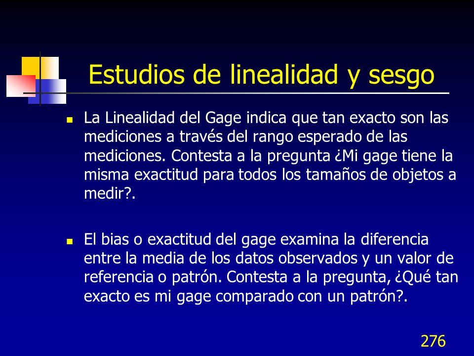Estudios de linealidad y sesgo