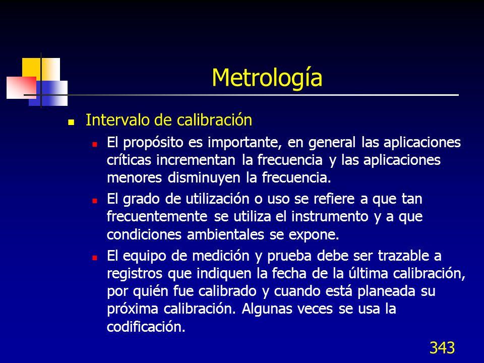 Metrología Intervalo de calibración