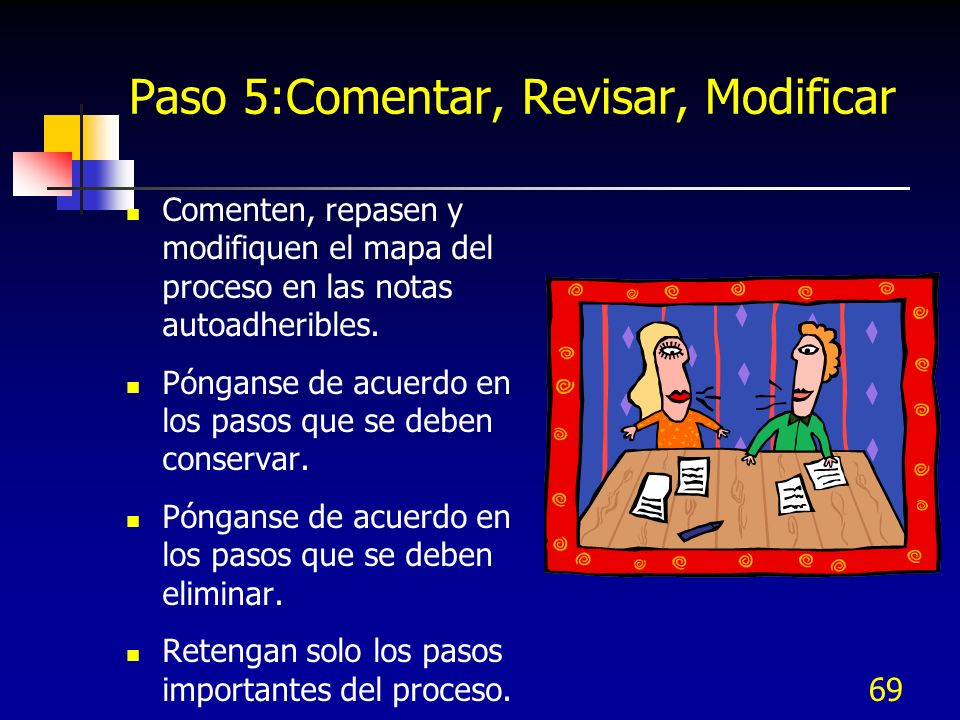 Paso 5:Comentar, Revisar, Modificar