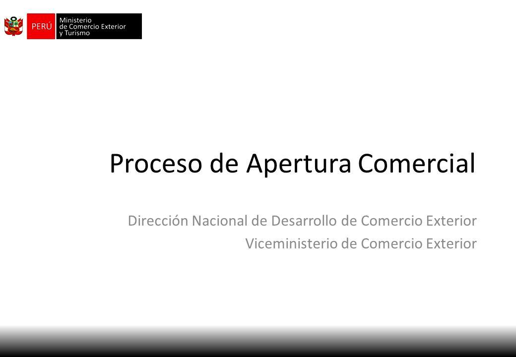 Proceso de Apertura Comercial