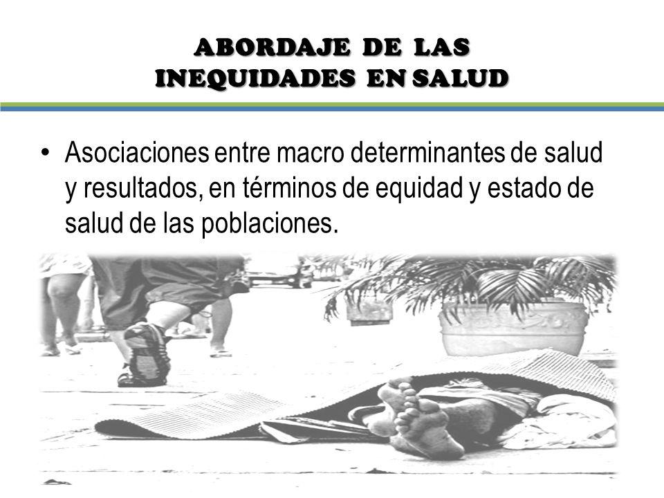 ABORDAJE DE LAS INEQUIDADES EN SALUD