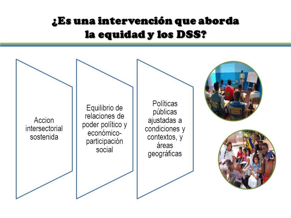 ¿Es una intervención que aborda la equidad y los DSS