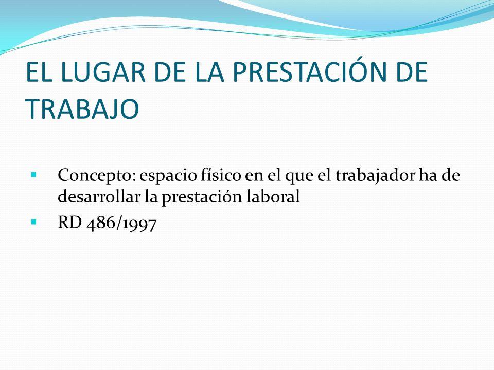 EL LUGAR DE LA PRESTACIÓN DE TRABAJO