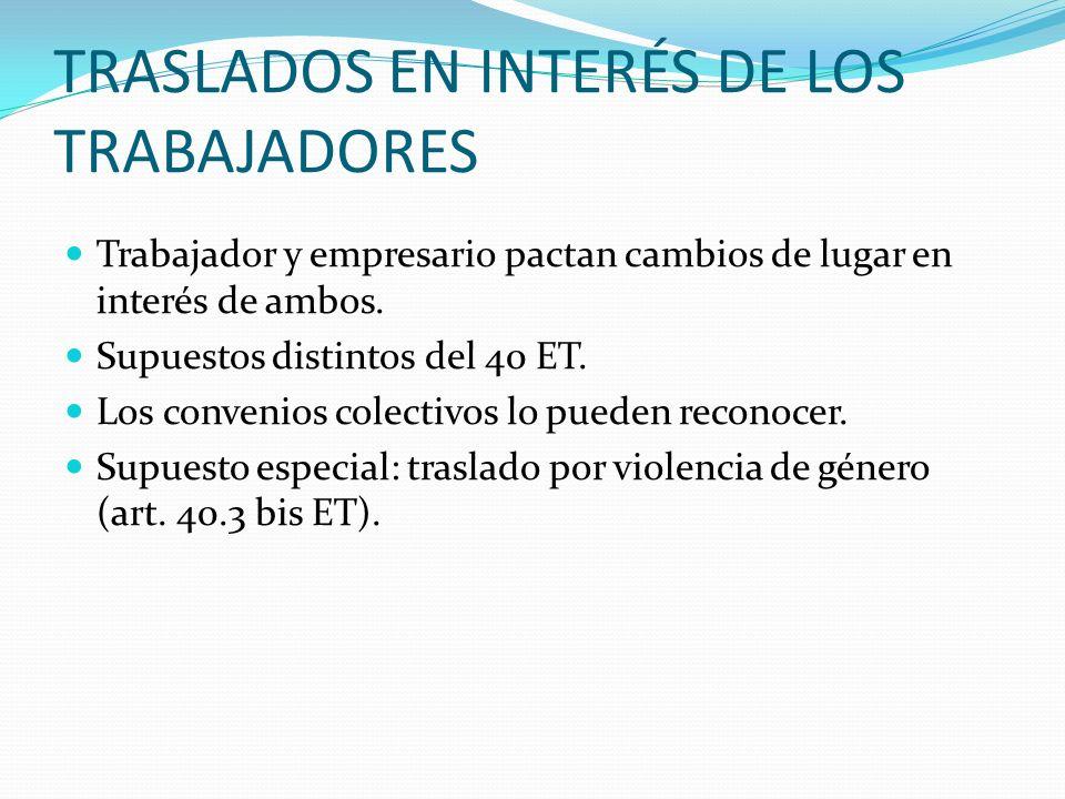TRASLADOS EN INTERÉS DE LOS TRABAJADORES