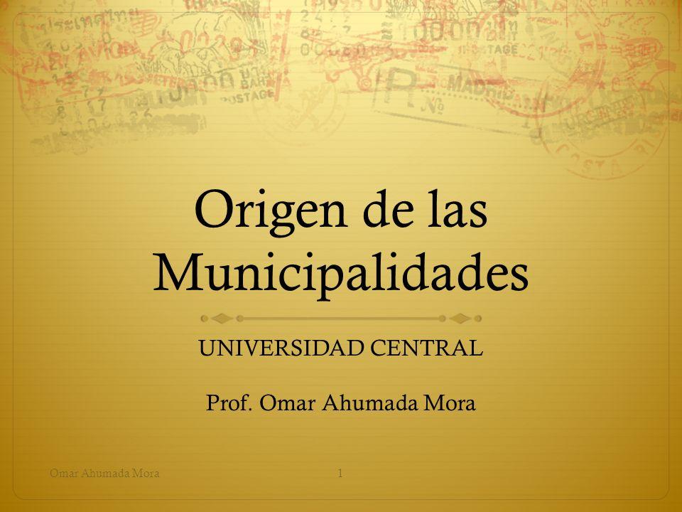 Origen de las Municipalidades
