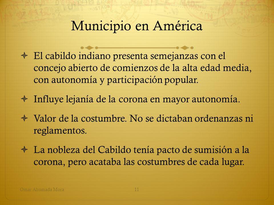 Municipio en América