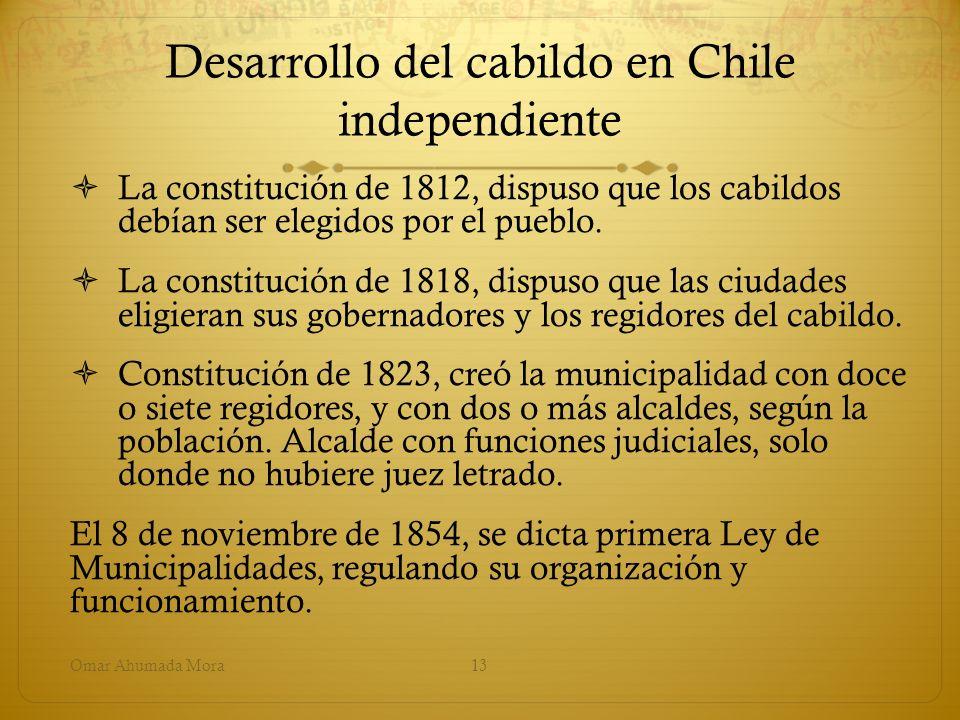 Desarrollo del cabildo en Chile independiente