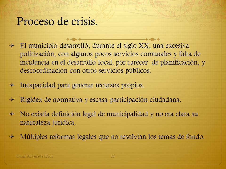 Proceso de crisis.