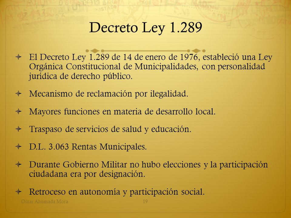 Decreto Ley 1.289