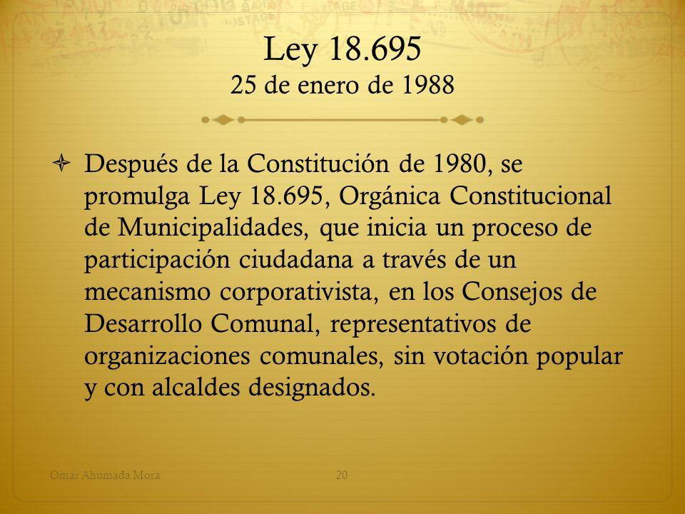 Ley 18.695 25 de enero de 1988