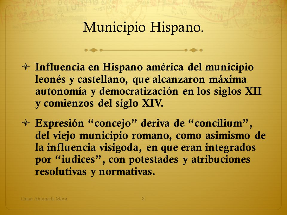 Municipio Hispano.