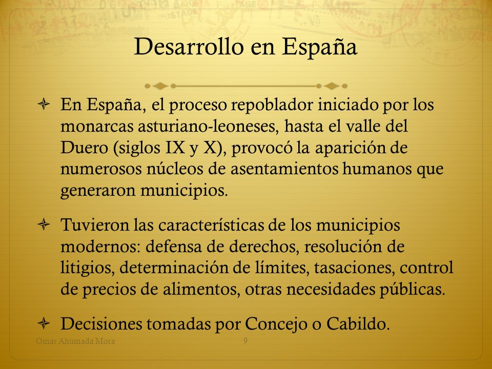 Desarrollo en España