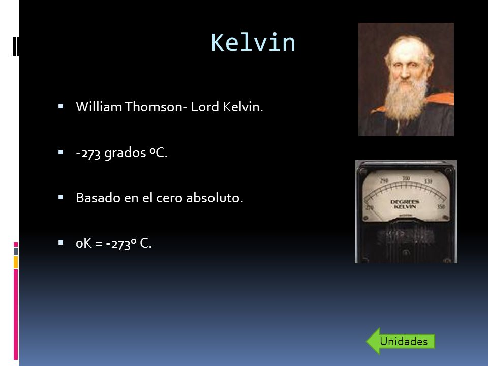 Kelvin William Thomson- Lord Kelvin. -273 grados ºC.