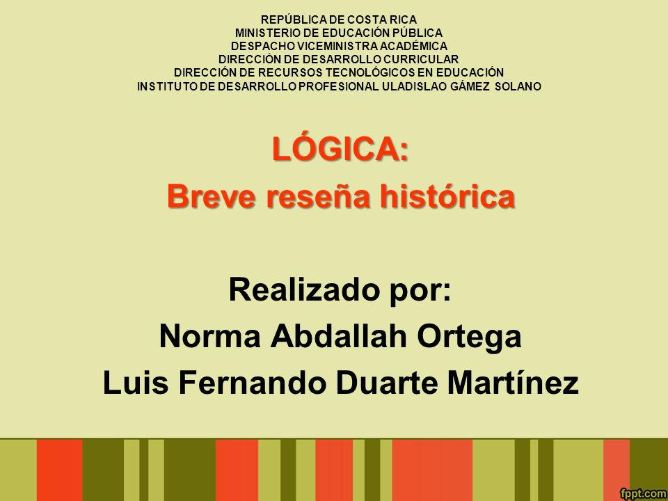 Breve reseña histórica Luis Fernando Duarte Martínez
