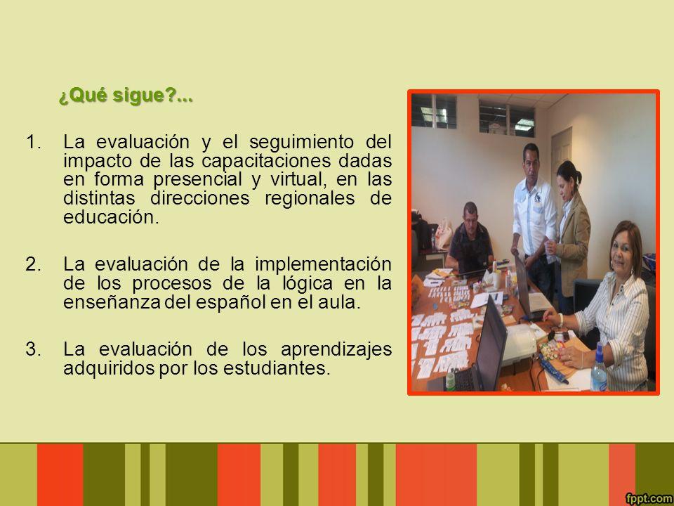 La evaluación de los aprendizajes adquiridos por los estudiantes.