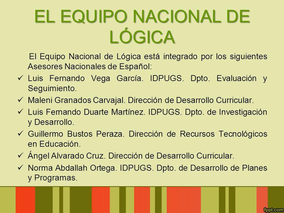 EL EQUIPO NACIONAL DE LÓGICA