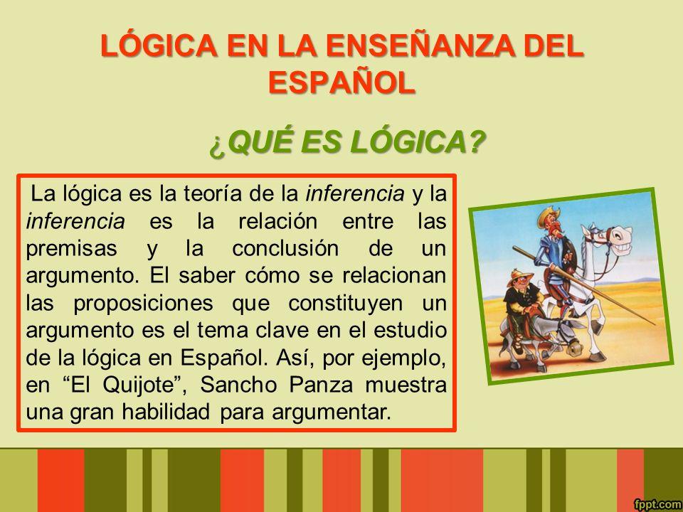 LÓGICA EN LA ENSEÑANZA DEL ESPAÑOL