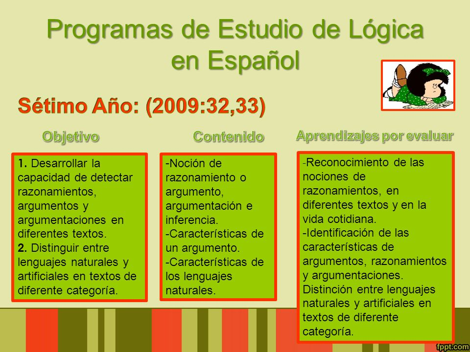 Programas de Estudio de Lógica en Español