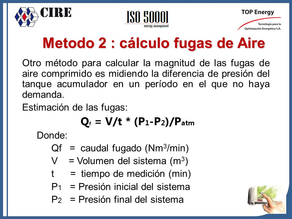 Metodo 2 : cálculo fugas de Aire