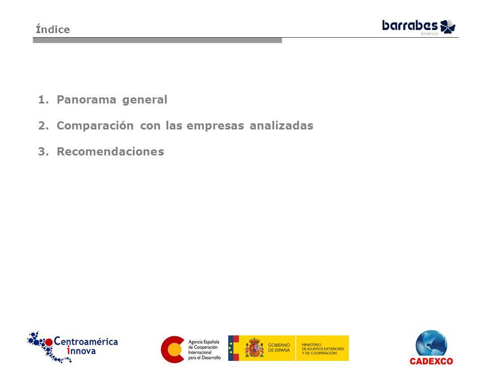 Comparación con las empresas analizadas Recomendaciones