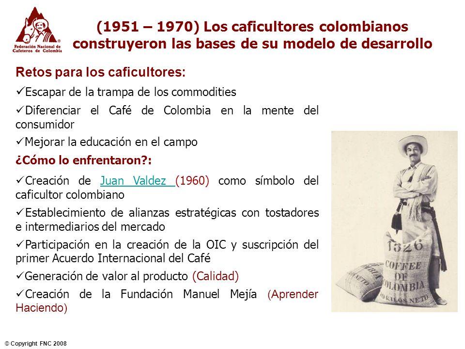 (1951 – 1970) Los caficultores colombianos construyeron las bases de su modelo de desarrollo