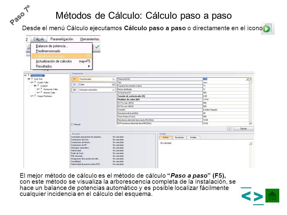 Métodos de Cálculo: Cálculo paso a paso