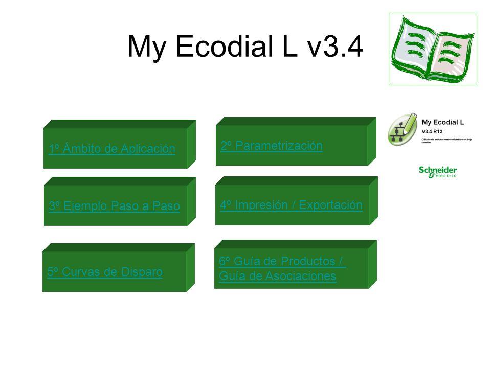 My Ecodial L v3.4 2º Parametrización 1º Ámbito de Aplicación