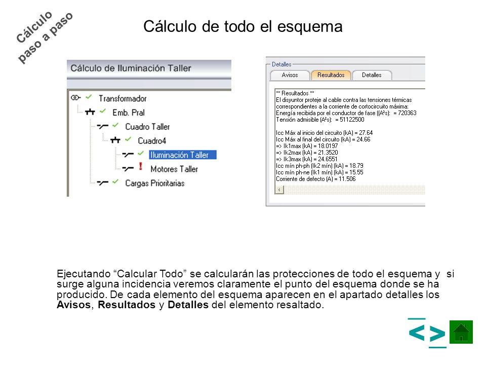 Cálculo de todo el esquema