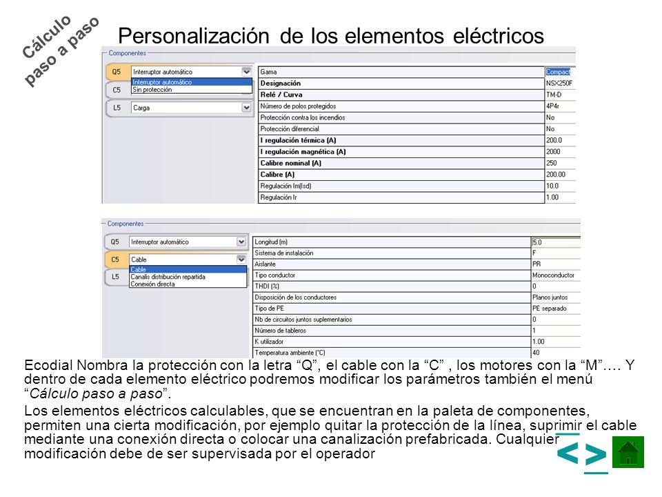 Personalización de los elementos eléctricos