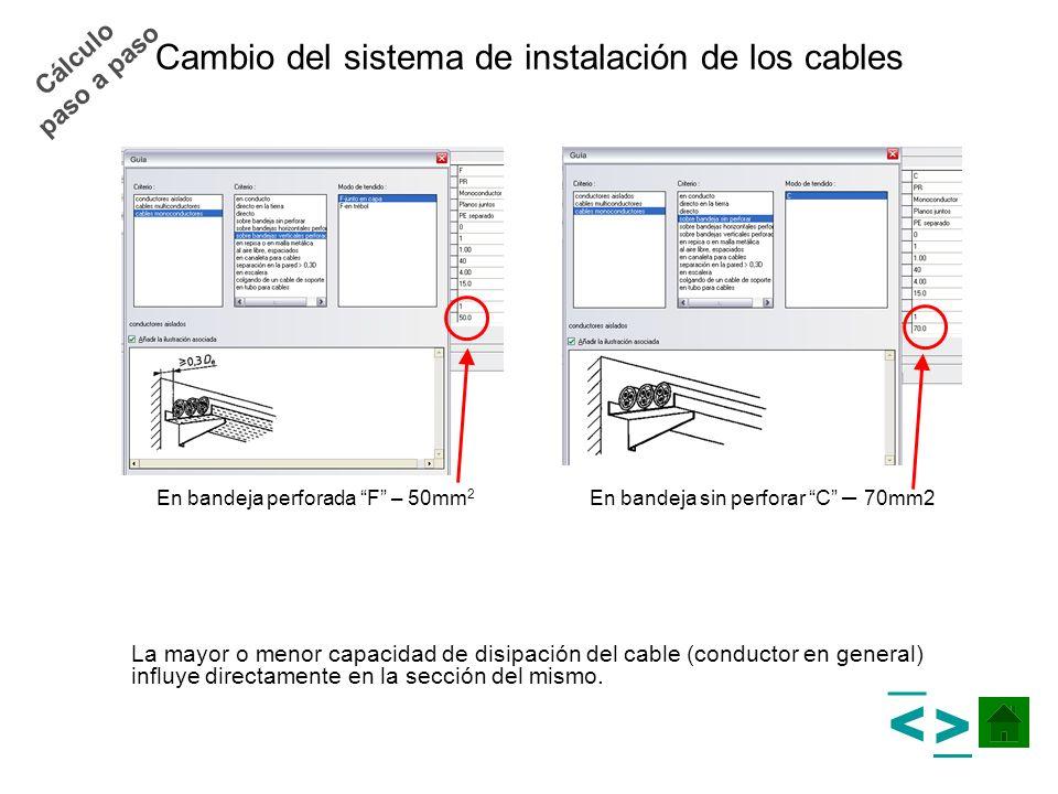 Cambio del sistema de instalación de los cables
