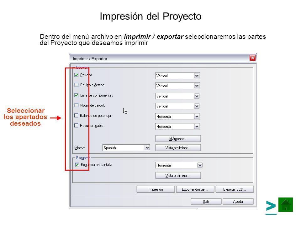 Impresión del Proyecto