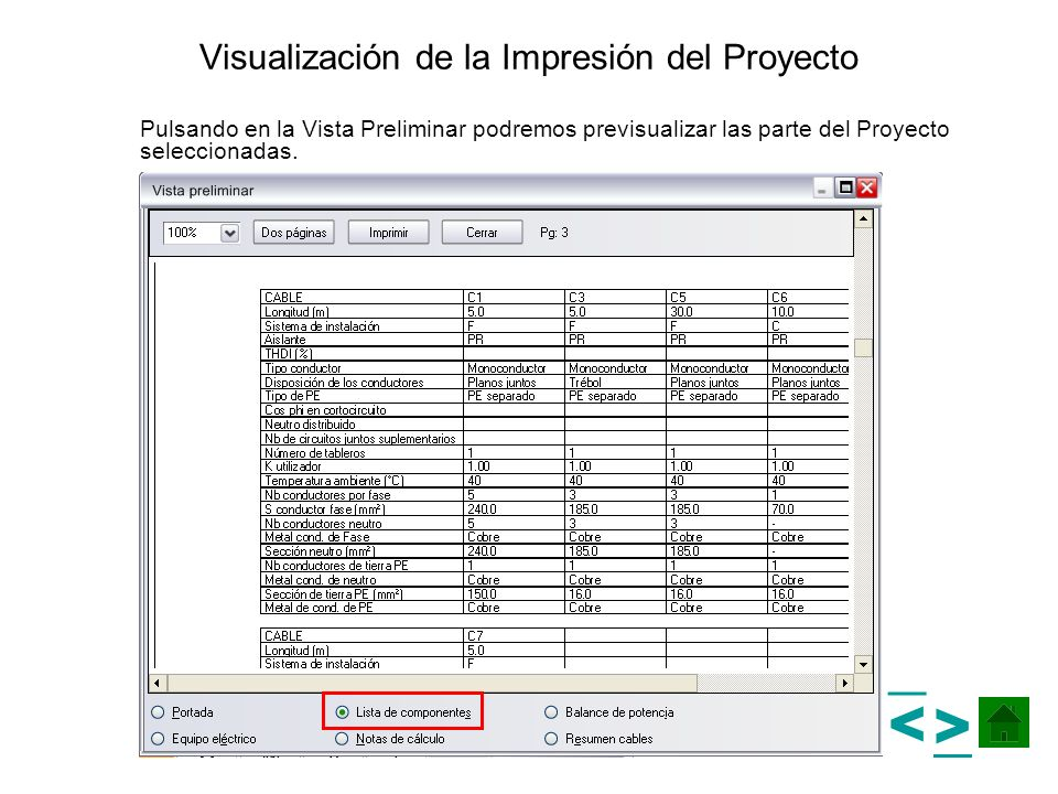 Visualización de la Impresión del Proyecto