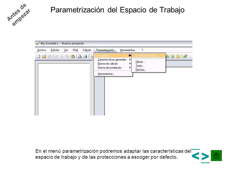 Parametrización del Espacio de Trabajo
