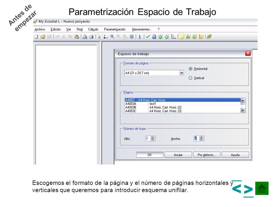 Parametrización Espacio de Trabajo