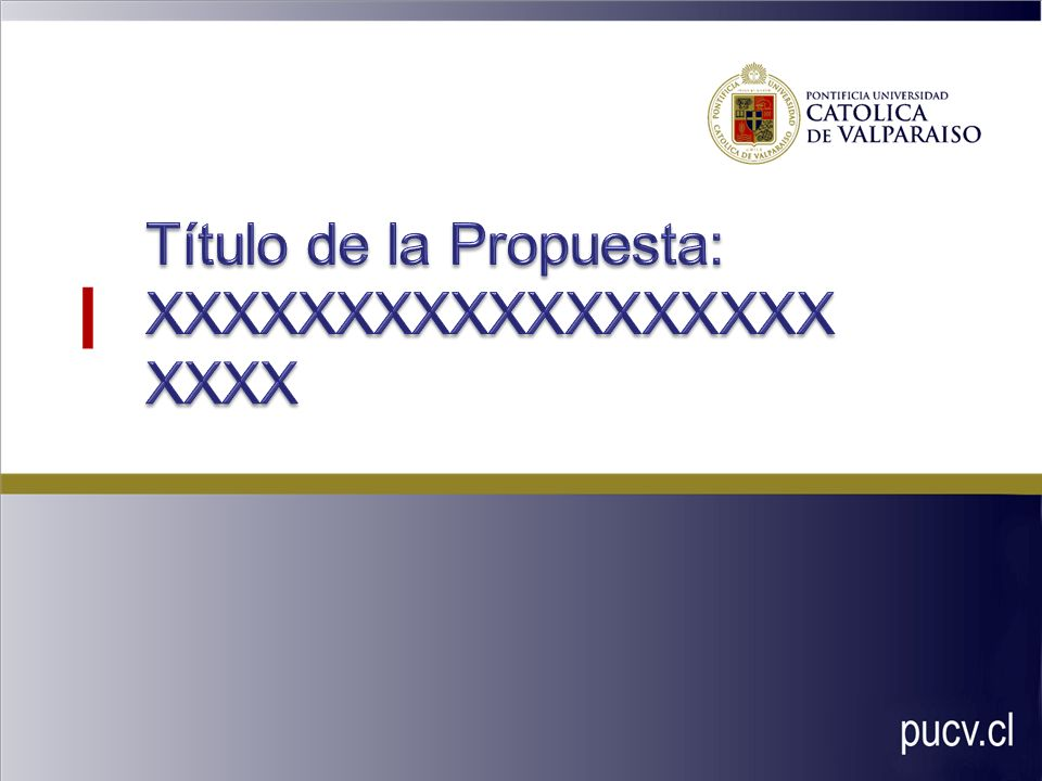 Título de la Propuesta: