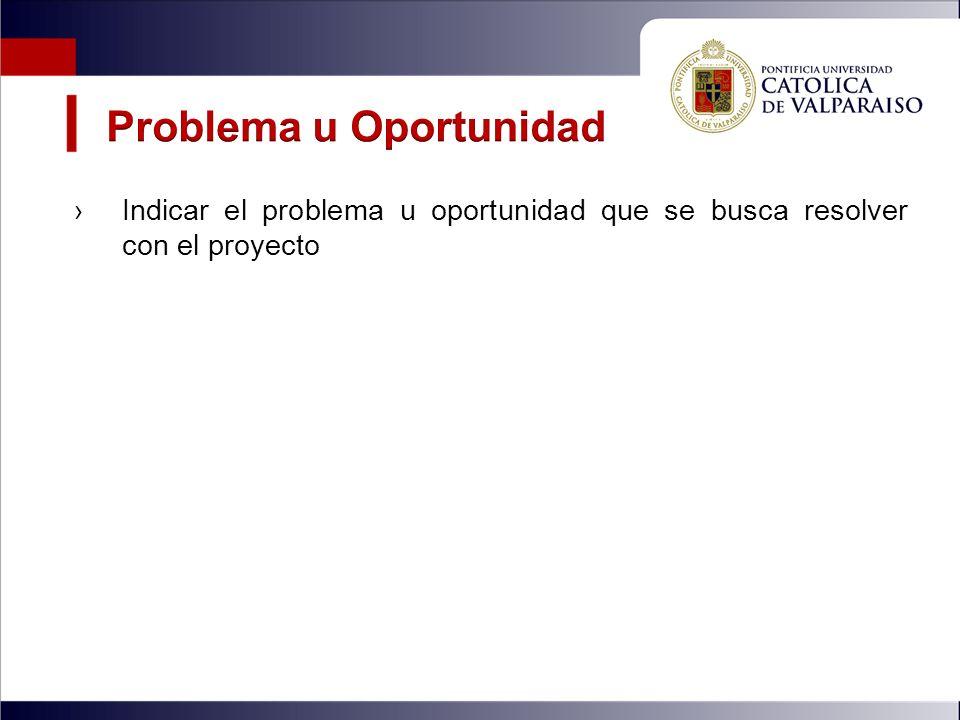 Problema u Oportunidad