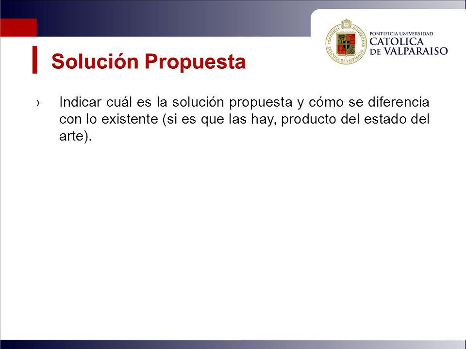 Solución Propuesta Indicar cuál es la solución propuesta y cómo se diferencia con lo existente (si es que las hay, producto del estado del arte).
