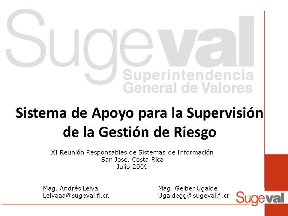 Sistema de Apoyo para la Supervisión de la Gestión de Riesgo