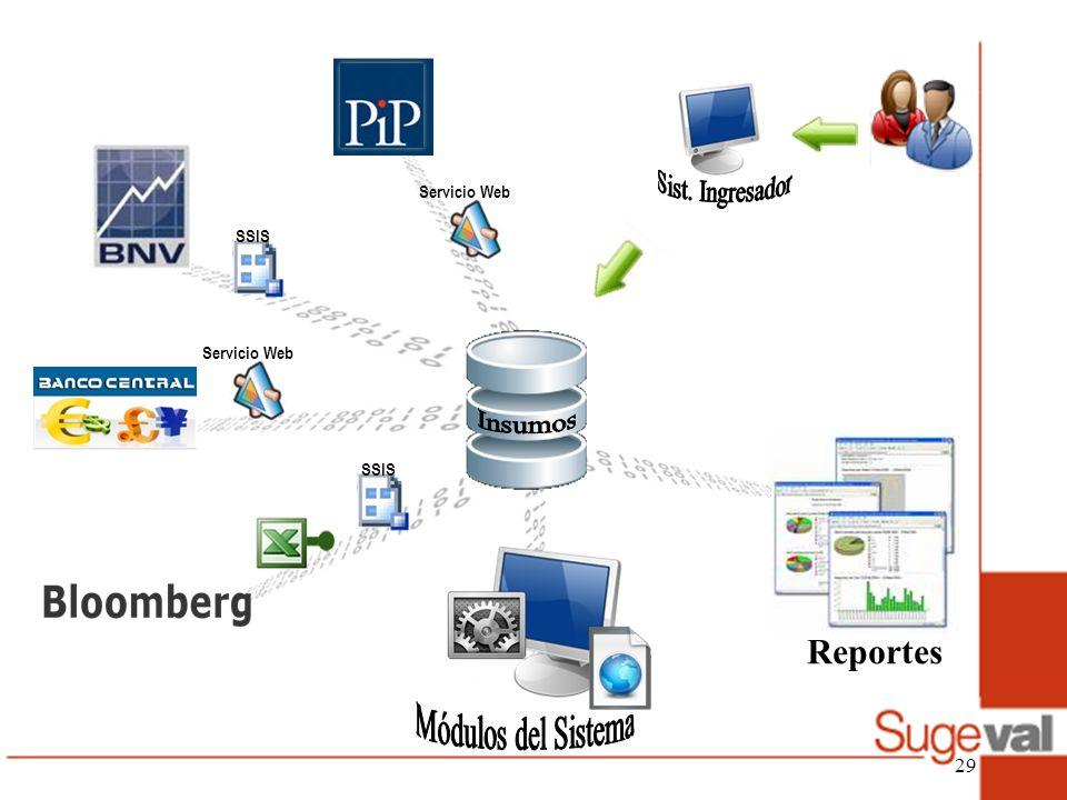 Sist. Ingresador Insumos Módulos del Sistema Reportes Servicio Web