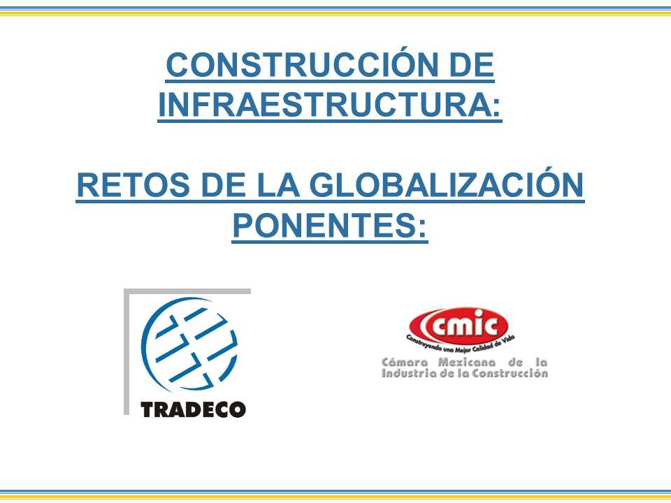 CONSTRUCCIÓN DE INFRAESTRUCTURA: RETOS DE LA GLOBALIZACIÓN PONENTES: