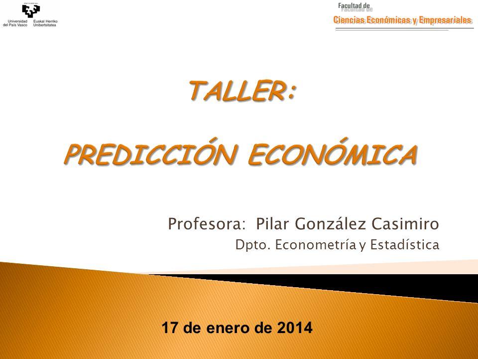 TALLER: PREDICCIÓN ECONÓMICA