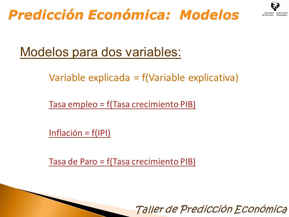 Variable explicada = f(Variable explicativa)