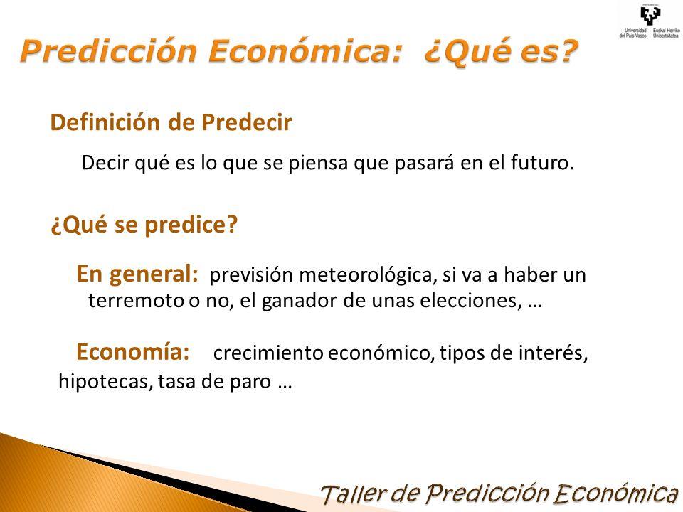 Predicción Económica: ¿Qué es